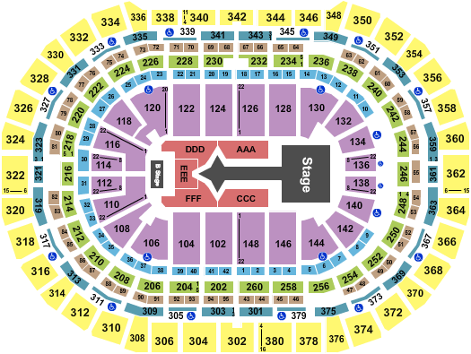 Pepsi Center - Denver Floor Plan