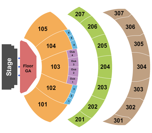 YouTube Theater at Hollywood Park Floor Plan