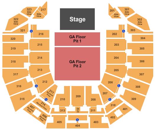 Perth Arena Floor Plan
