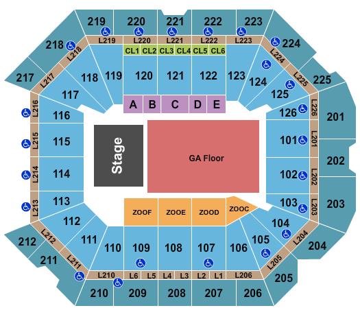 Petersen Events Center Floor Plan