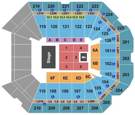 Petersen Events Center seating chart event tickets center