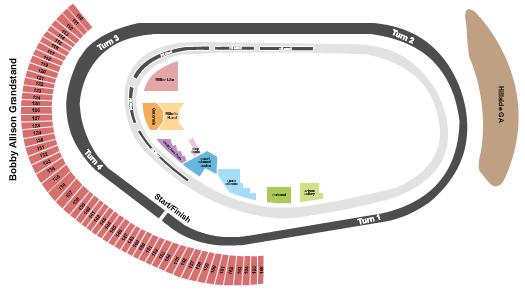 Phoenix Raceway Seating Map