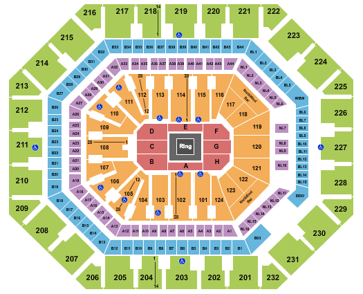 seating chart for Footprint Center Boxing - eventticketscenter.com
