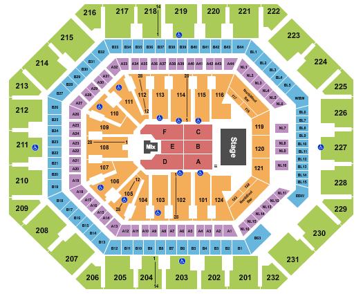 Footprint Center seating chart event tickets center