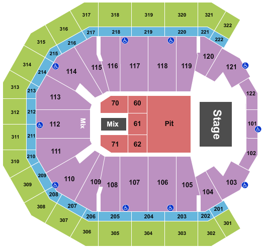Pinnacle Bank Arena seating chart event tickets center