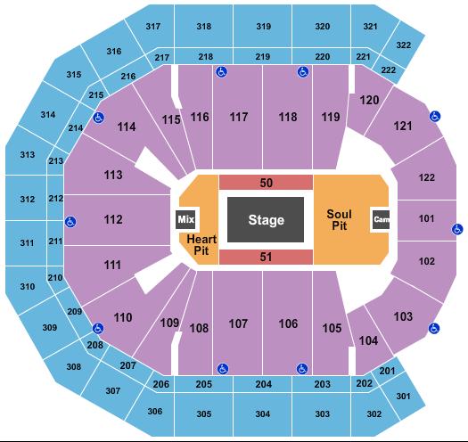 Pinnacle Bank Arena Floor Plan