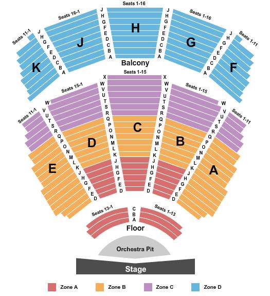 Pioneer Center Auditorium Floor Plan