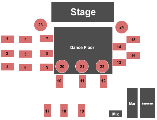 Playhouse Boise Dinner and Event Theater Seating Chart