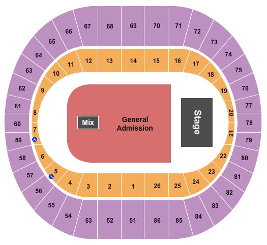 Portland Veterans Memorial Coliseum Floor Plan