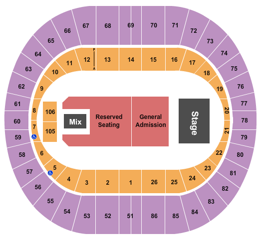 Portland Veterans Memorial Coliseum seating chart event tickets center