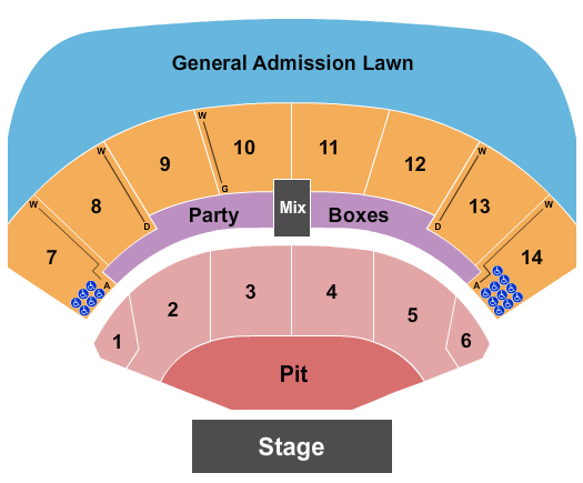 seating chart for Azura Amphitheater Endstage Pit 4 - eventticketscenter.com