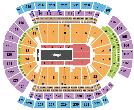Prudential Center Floor Plan