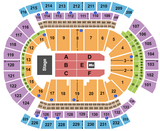 seating chart for Prudential Center Carlos Vives - eventticketscenter.com