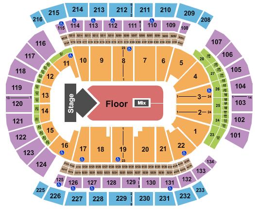 seating chart for Prudential Center Dua Lipa - eventticketscenter.com