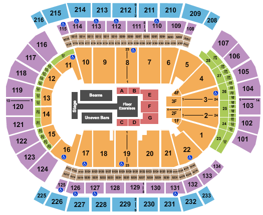 seating chart for Prudential Center Gold Over America Tour - eventticketscenter.com