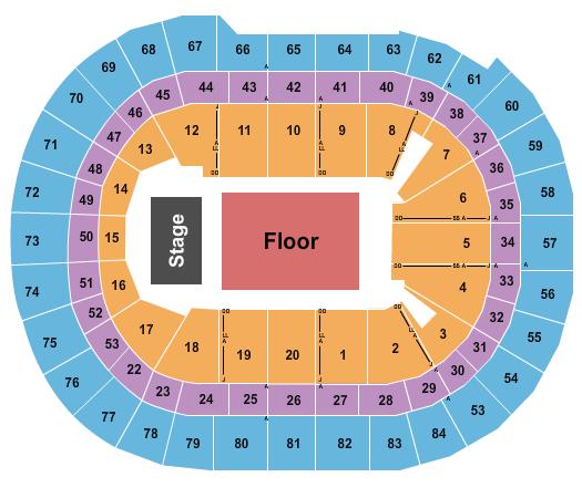 Qudos Bank Arena Floor Plan