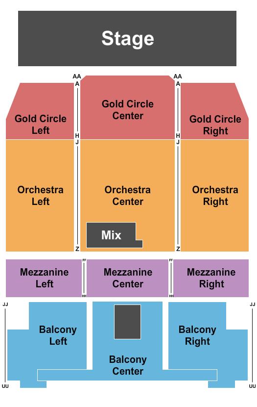 Queen Elizabeth Theatre - Toronto Floor Plan