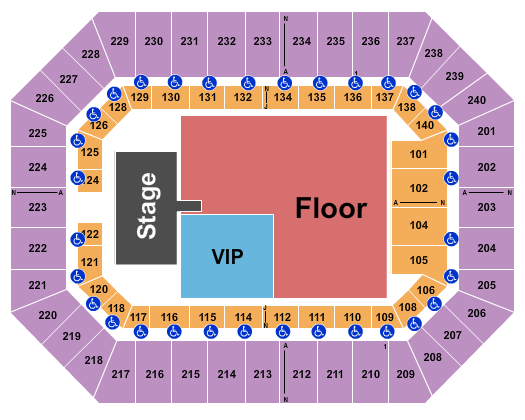 Raising Cane's River Center Arena seating chart event tickets center