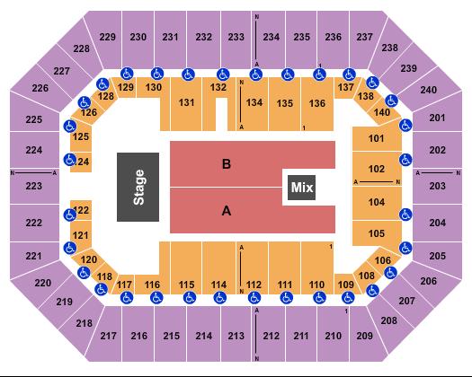 Raising Cane's River Center Arena Floor Plan