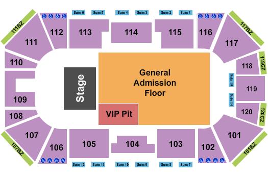 Ralston Arena Floor Plan