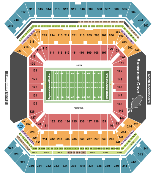 Raymond James Stadium Floor Plan