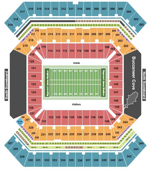 Raymond James Stadium seating chart event tickets center