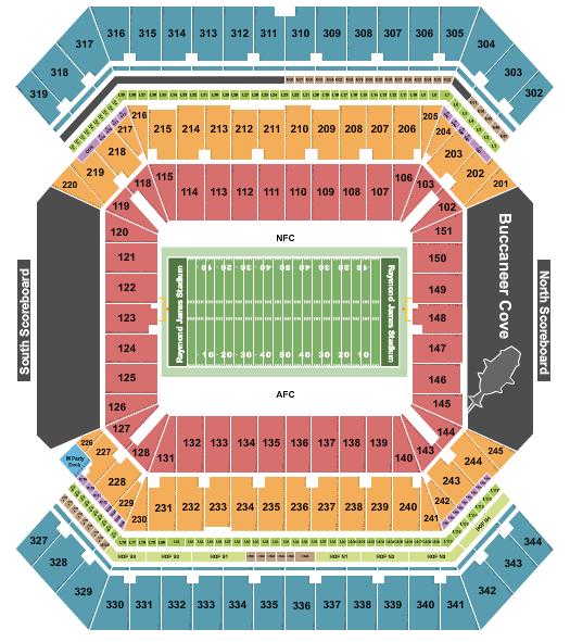 Raymond James Stadium Floor Plan