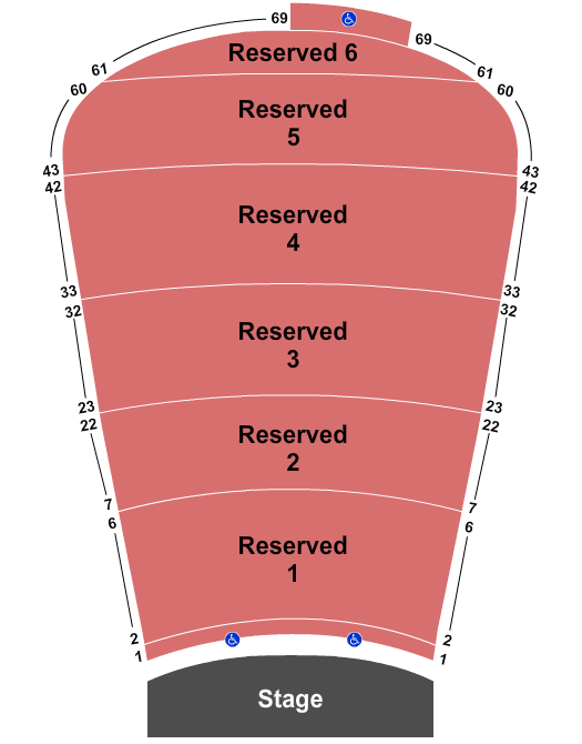seating chart for Red Rocks Amphitheatre Joe Bonamassa - eventticketscenter.com