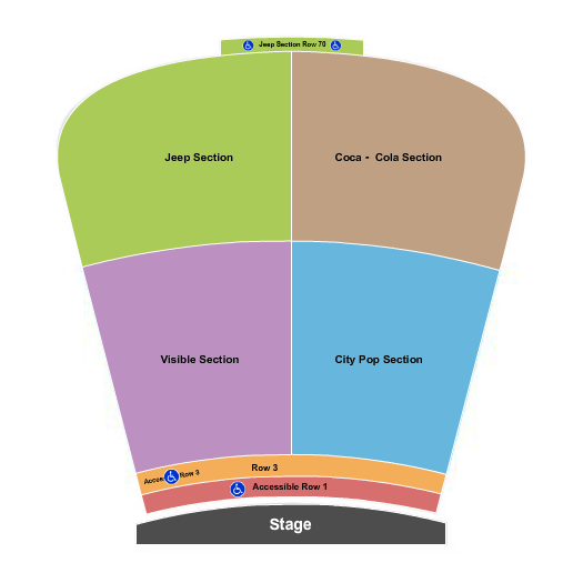 Red Rocks Amphitheatre seating chart event tickets center