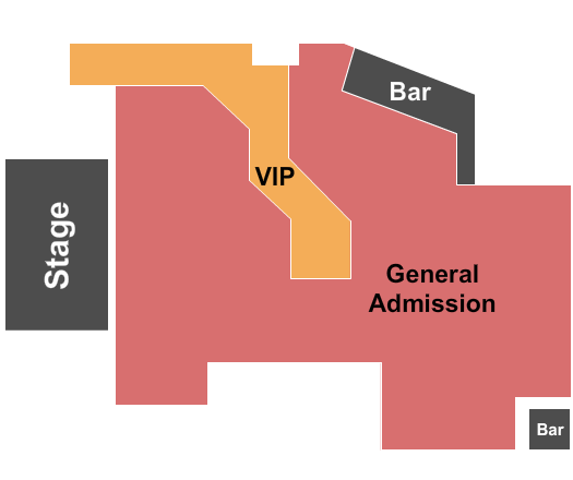 Revolution Concert House and Event Center Floor Plan