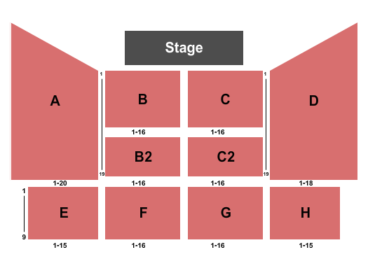 Rhythm City Casino Resort Event Center Seating Chart