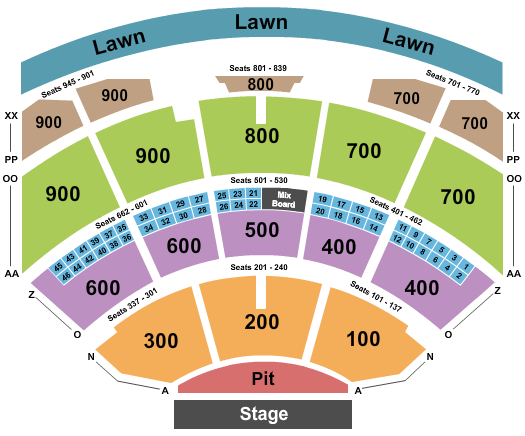 Riverbend Music Center seating chart event tickets center