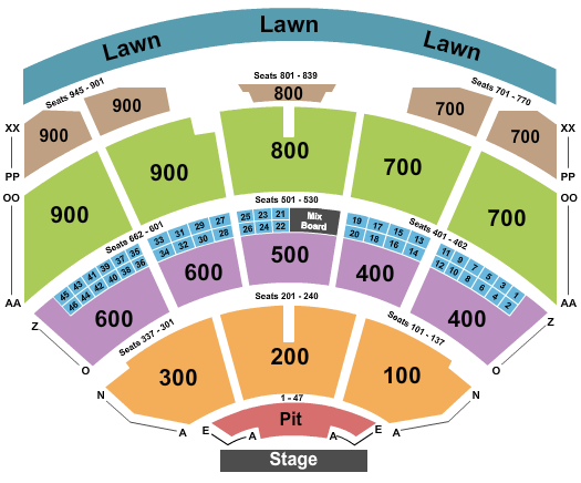 seating chart for Riverbend Music Center End Stage - eventticketscenter.com
