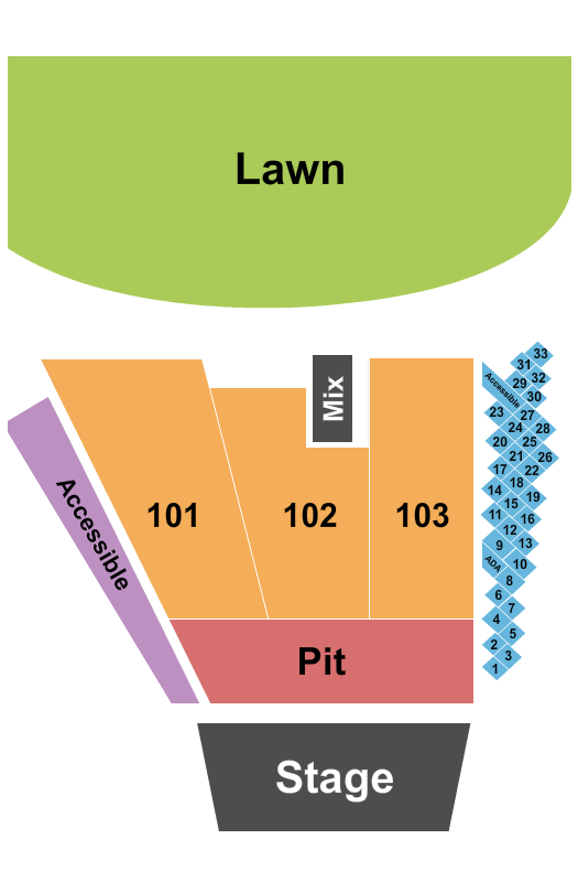 Widespread Panic Riverfront Park Amphitheater Seating Chart