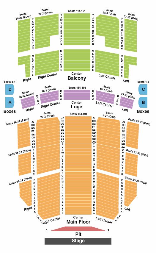 Rochester Auditorium Theatre Floor Plan