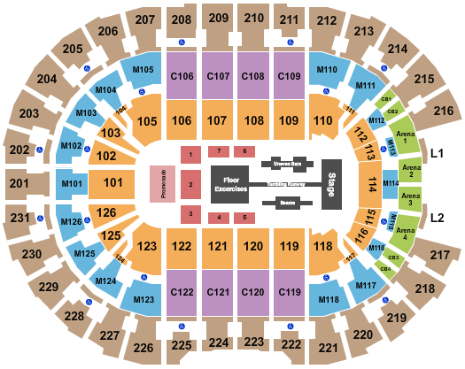 seating chart for Rocket Mortgage FieldHouse Gold Over America Tour - eventticketscenter.com