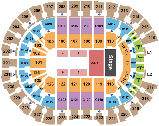 seating chart for Rocket Mortgage FieldHouse Kacey Musgraves - eventticketscenter.com