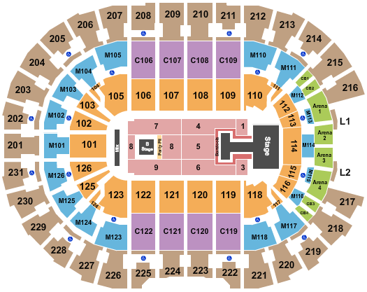 Rocket Mortgage FieldHouse seating chart event tickets center