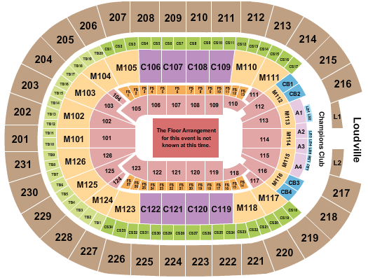 seating chart for Rocket Mortgage FieldHouse Generic Floor - eventticketscenter.com