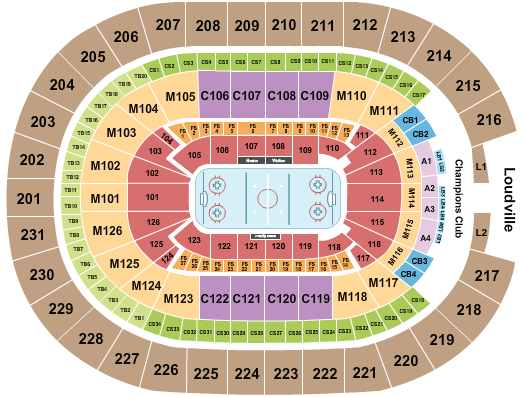 seating chart for Rocket Mortgage FieldHouse Hockey 1 - eventticketscenter.com