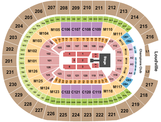 seating chart for Rocket Mortgage FieldHouse Kane Brown - eventticketscenter.com