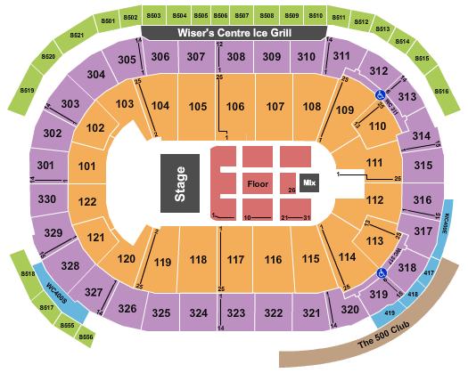 Rogers Arena Floor Plan