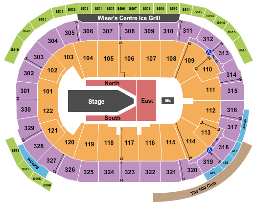 Rogers Arena seating chart event tickets center