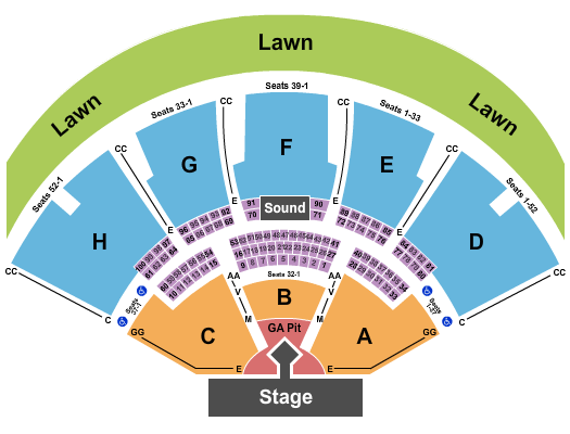 Ruoff Music Center Floor Plan