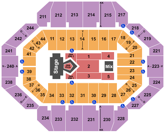 Rupp Arena At Central Bank Center Floor Plan