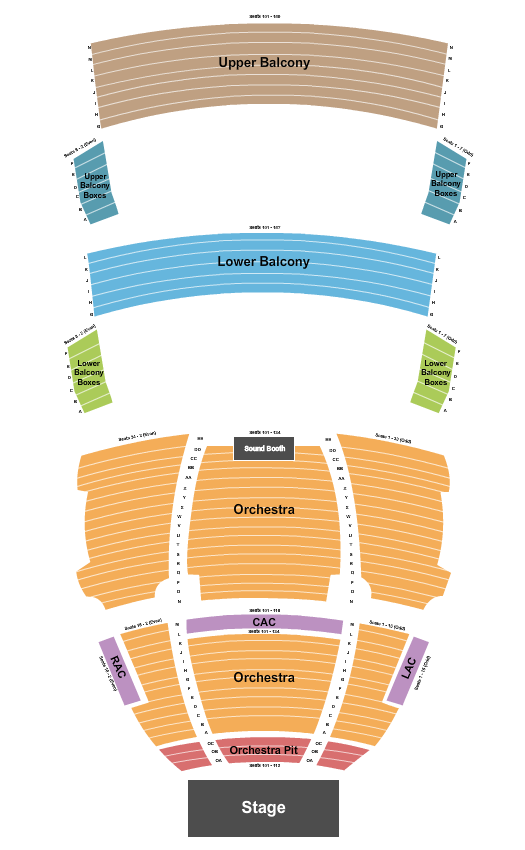 SAFE Credit Union Performing Arts Center Floor Plan