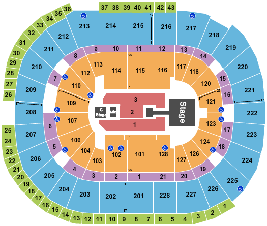 seating chart for SAP Center Enrique Iglesias - eventticketscenter.com