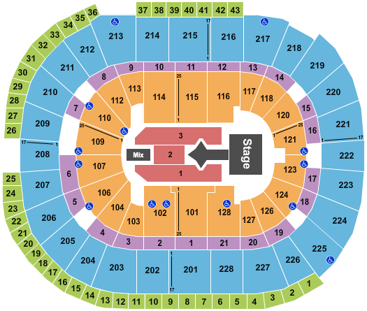seating chart for SAP Center Justin Bieber - eventticketscenter.com