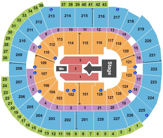 SAP Center seating chart event tickets center