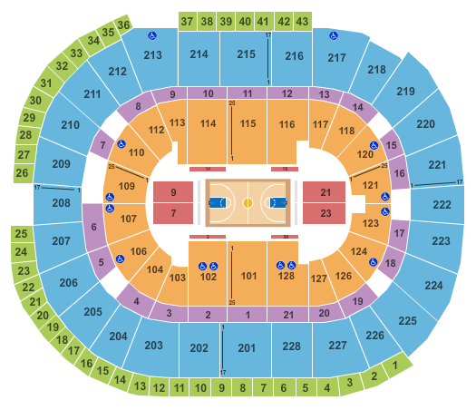 seating chart for SAP Center NCAA Basketball - eventticketscenter.com